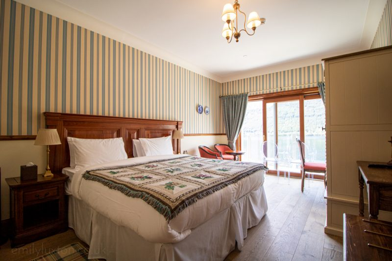 Room at the Whispering Pine Lodge