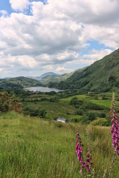 Road trip views in Snowdonia Wales