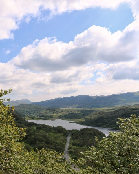 View from Dinas Emrys Snowdonia Wales