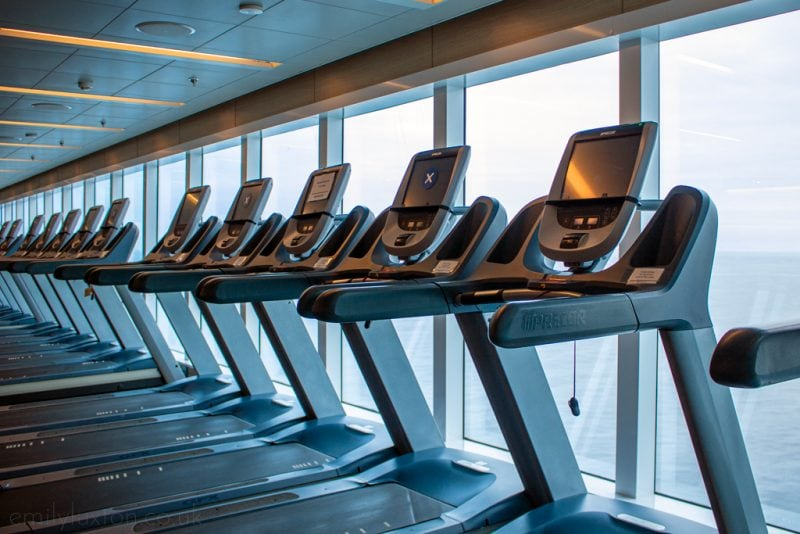 Gym onboard the Regal Princess - one of many fitness actitvities onboard