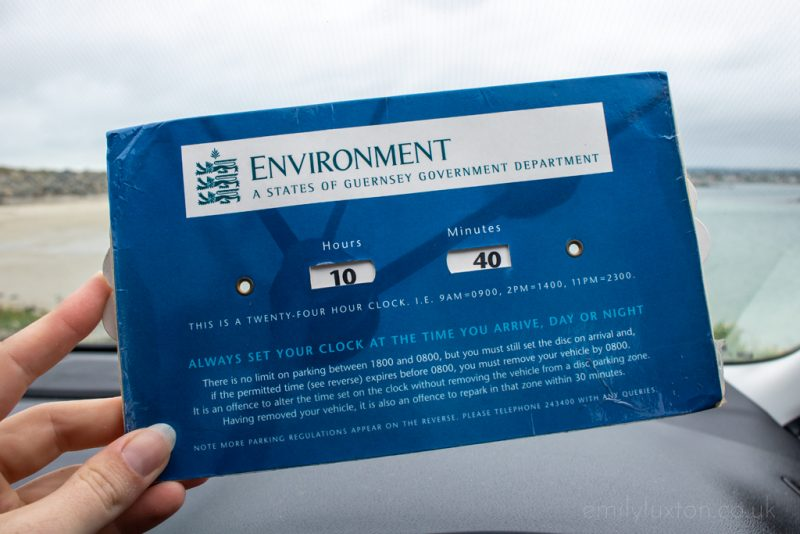 Guernsey Travel Tips Parking Clock