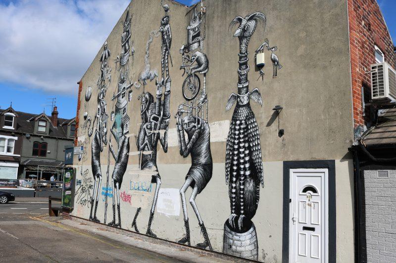 Phlegm street art in Sheffield UK