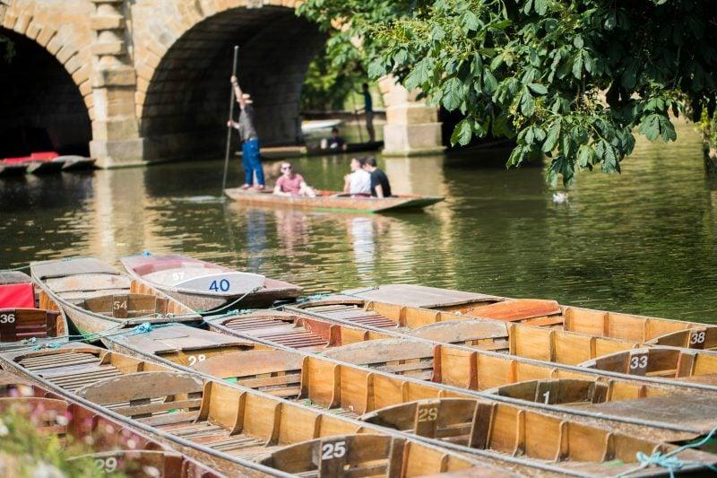 Punts on River Cherwell England
